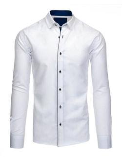 b4d7ec986fc7 Biela pánska košeľa s modrým lemom - Outfiter.sk