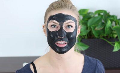 pletova maska z aktivneho uhlia na tvar